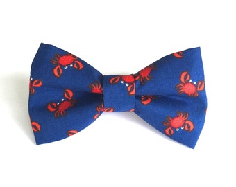 Red Crab Dog Bow Tie