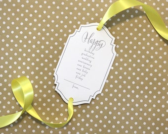 Choices Letterpress Gift Tag - Set of 3 Letterpress Gift Tags