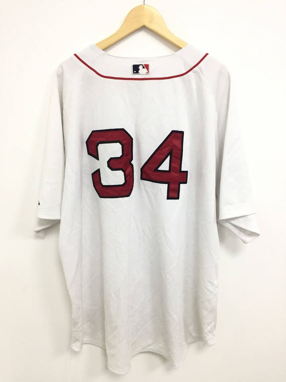 Sox Vintage Authentic 34 Jersey Boston Majestic 56 Red Baseball Collection Size EqRpZq
