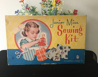 1950's Junior Miss Sewing Kit