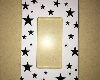 Black stars switch-plate