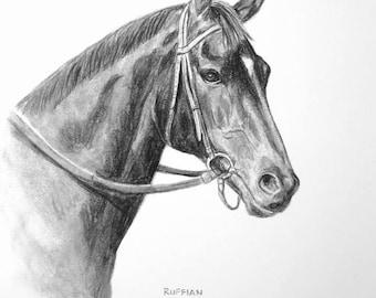 RUFFIAN Champion Filly Horse Racing Print