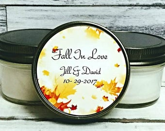 Fall Wedding Favors - Wedding Candle Favor - Wedding Favors for guests - Fall Wedding  - Rustic Favors  - Set of 12 - Candle Favors