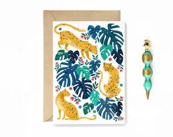Leopard Jungle Card