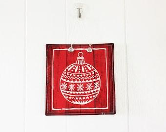 Christmas Wall Hanging red christmas ornament