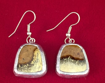Broken China Earrings --Pigeon Forge Pottery -- #20,089