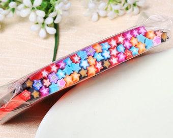 50 Star Canes - Polymer Clay / Nail Art / Fimo / Slice / Sticks / Decoration / Slime Supplies / Fruit / Kawaii / Scrapbooking / Cane