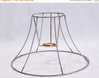Wire lampshade frame etsy sale lamp shade wire frame lamp harp diy kit 6 sided vintage mozeypictures Image collections