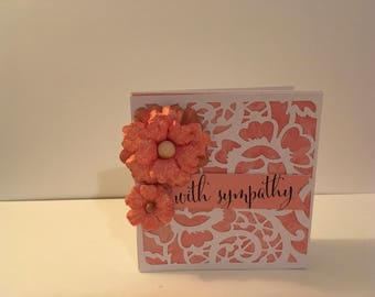 Handmade Sympathy Card- With Sympathy