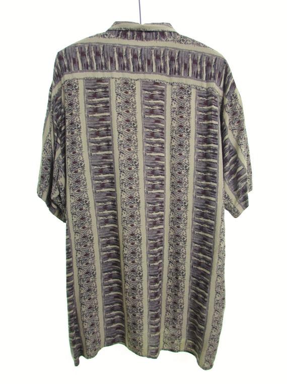 Lands End cotton shirt beach shirt pink shirt oxford short sleeve shirt distressed shirt preppy 90s grunge hipster IXmAE