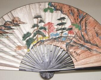Oriental style wall fan