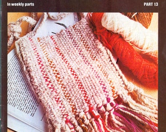 70s Golden Hands Crafts Weekly Part 13 Covering Various Crafting Projects, Colour Magazine with Patterns and Instructions