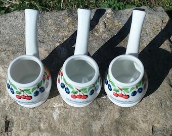 Vintage Weisenbach Kappelrodeck Shot Glasses/Antique Liquor Glasses/German/Swedish/Folk Art/Multi Fruit/Stemmed/Pipe/Bubble/Eco Friendly