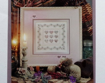 Counted Cross Stitch Heart Sampler