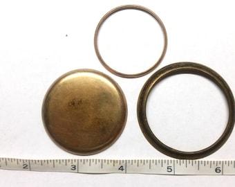 Vintage pocket watch case pieces