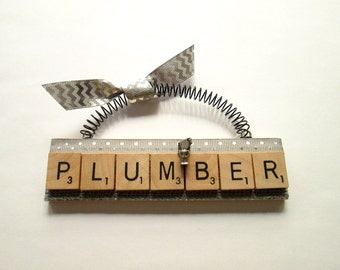 Plumber Scrabble Tile Ornament