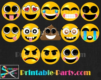 Emoji Smily Face Digital Clipart Graphics Commercial Use OK