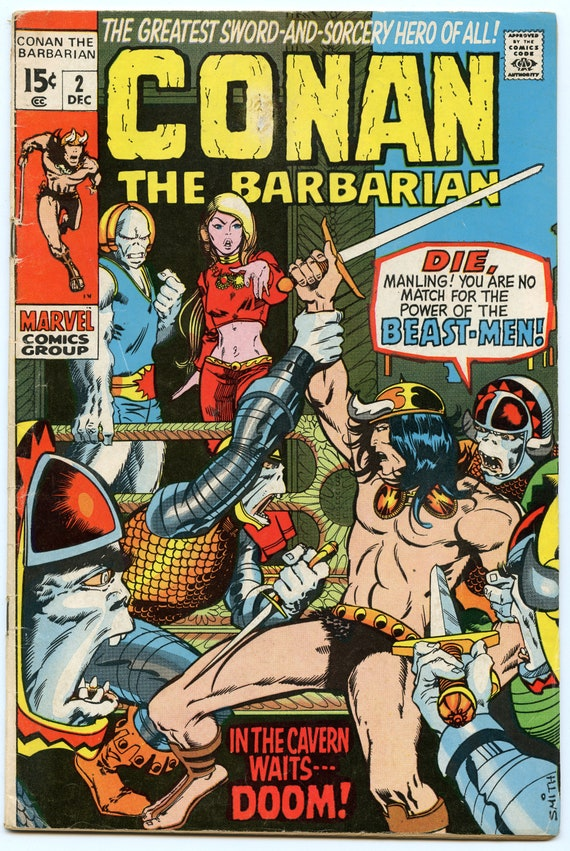 Conan the Barbarian 2 Dec 1970 VG (4.0)