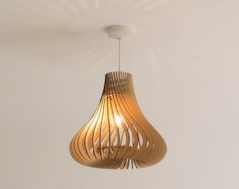 Twisted Lasercut Wooden Lampshade No.4 - Hershey's Kisses