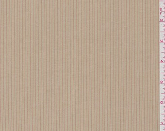 Tan/Coral Stripe Suiting, Fabric By The Yard