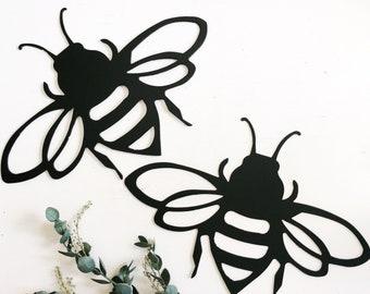 Bee Wall Art - Metal Bee - Metal Sign - Bee Lover - Honey Bee - Metal Wall Decor