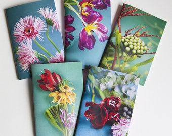 Floral and spring journal with blanket satin paper series one