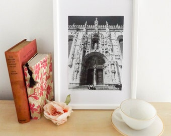 Monastery / lisbon / portugal / cathedral / architecture / travel photography / home decor / wall art / fine art