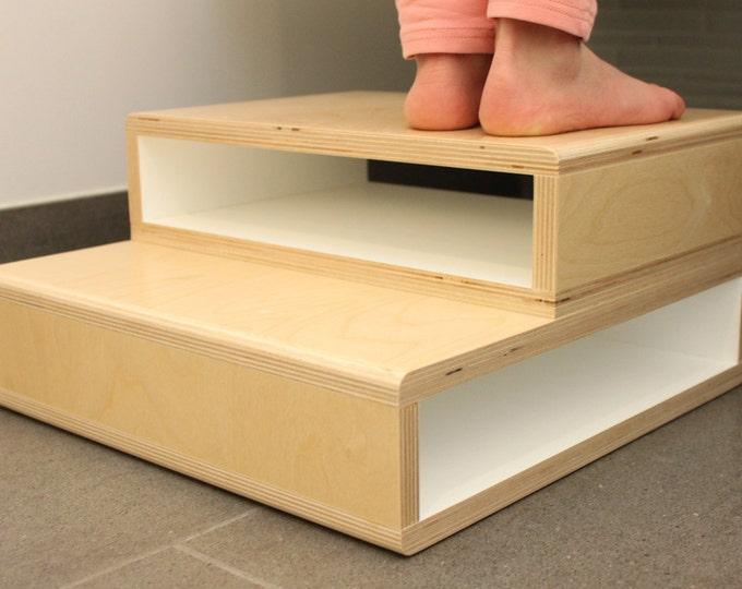 StepUp - A Modern Step Stool for Kids | White