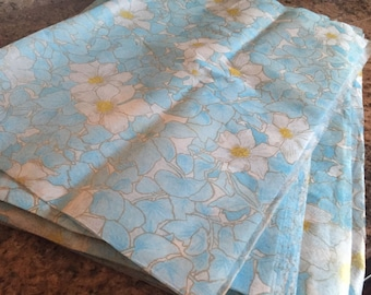 """3 Vintage Rice Paper Sheets        20"""" x 29"""" White and Blue Gold  Floral"""
