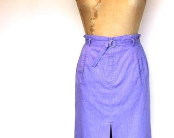 Vintage Sz UK12 Pencil Skirt, 80s Skirt, 1980s Skirt, NZ Vintage, New Zealand Vintage, High Waisted Skirt, 1950s Retro Wiggle