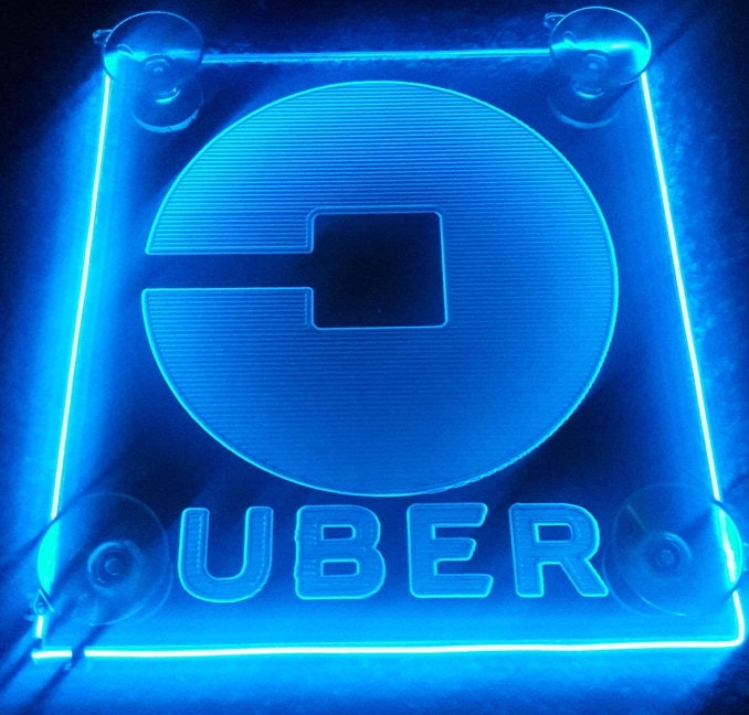 Uber New Logo Lyft Car Sign Acrylic Engraving With Aa