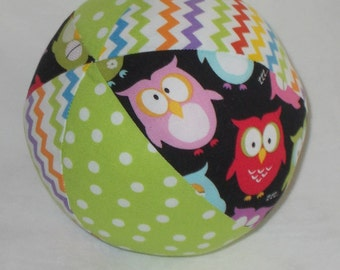 Sleepy Owls Boutique Ball Rattle Toy