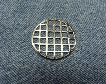 Decorative item - circle - silver