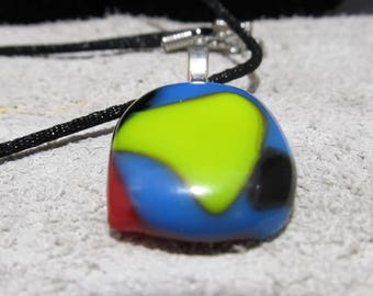 Fused Glass Jewelry.  Fused Glass Necklace
