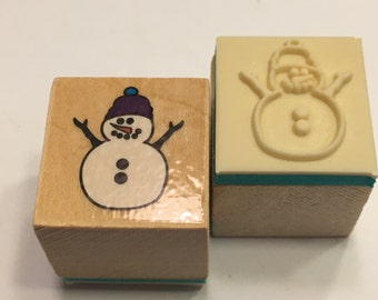 Small Snowman rubber stamp, 20 mm (BB1/4)