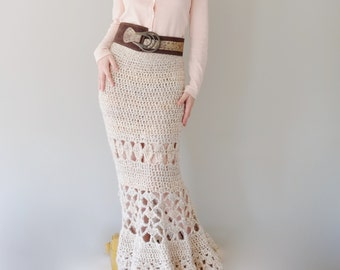 PATTERN For Maxi Skirt / Crochet Long Skirt / Crochet Pattern PDF - Instant Download / Detailed Instructions In English For Crochet Skirt