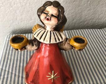 Vintage Bozner Engel Thun Angel Figurine. 1970s