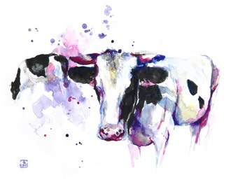Cow, Original Painting, Original Watercolor Painting