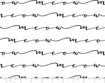 Popeline imprimée écritures noir sur blanc.x1m