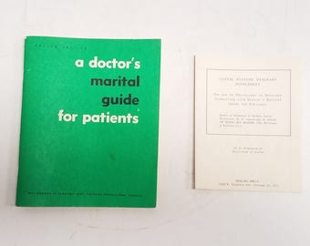 Vintage Sex Guide  A Doctor's Marital Guide For Patients - Kama Sutra, Medical by Bernard Greenblat M.D. w/ seperate  supplement poster 1962