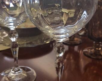 Crystal Stemware Wine Glasses (2)
