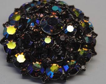 Vintage Brooch/Rhinestone Brooch/Crystal