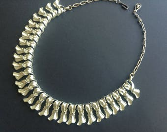 Vintage 1960s Linked Necklace, Vintage jewelry