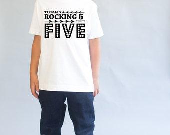 Rocking Five - 5th Birthday Top - 5 Birthday Shirt - 5th Birthday Shirt - Five Year Old - Five Birthday Gift - 5th Birthday Outfit