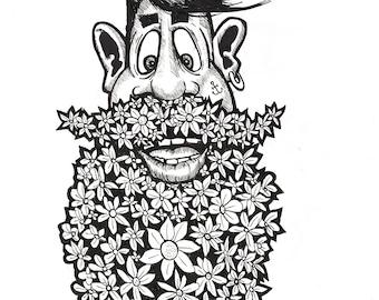 Bearded man- flowers