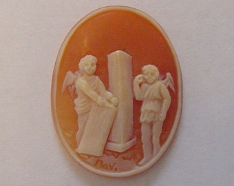 Shell Cameo of a Pompeii Wall Drawing