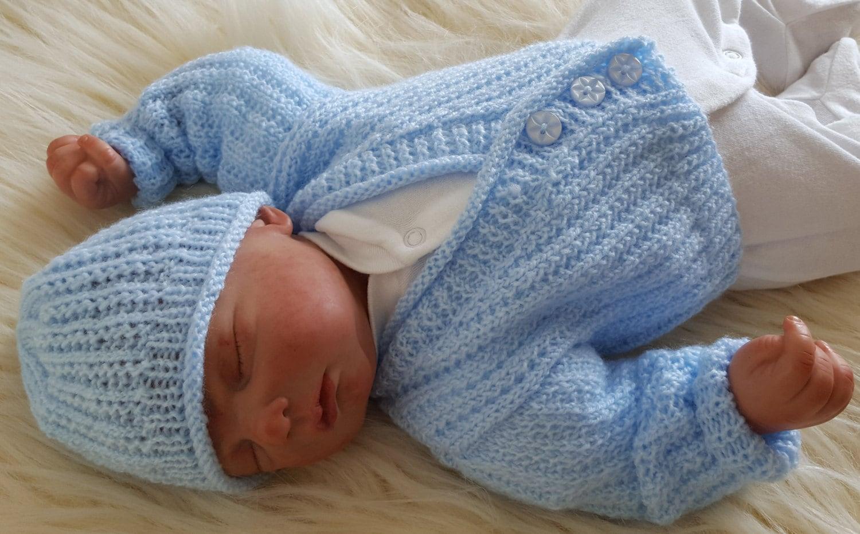 Baby knitting pattern boys or reborn dolls sweater set zoom bankloansurffo Choice Image