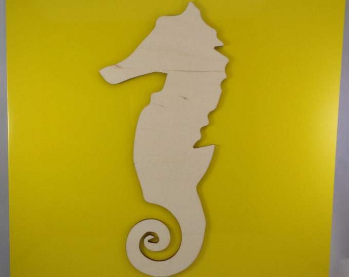 Plywood Seahorse and Recycled Aluminum