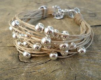 bracelets for women handmade  jewelry everyday bracelet boho bracelet cord bracelet beaded bracelet multistrand bracelet beaded jewelry