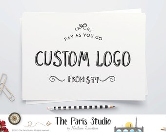 Photography Logo Watercolor Monogram Logo Design Custom Logo Design Business Logo Branding Website Logo Blog Logo Watercolor Logo Text Logo